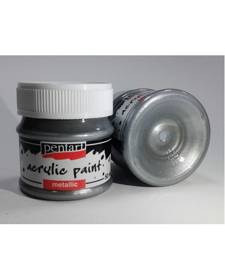 Vopsea acrilica argintiu (50 ml)