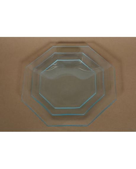 Platou sticla octogon 23 cm
