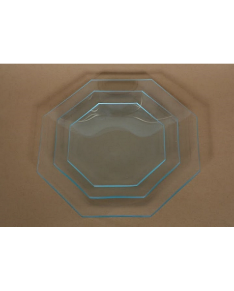 Platou sticla octogon 14 cm