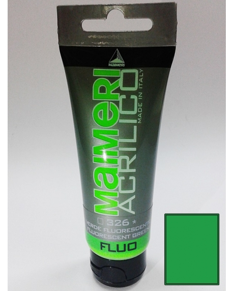 Vopsea acrilica fluorescenta 75 ml verde