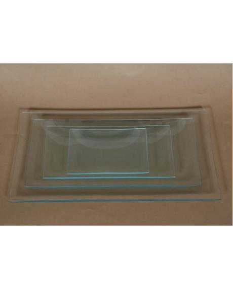 Platou sticla dreptunghiular 17x34 cm