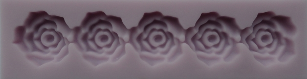 Muolaj din silicon, bordura trandafiri