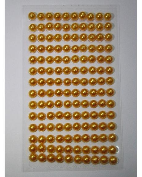 Perle jumatati AA. 6 mm(140 buc) auriu