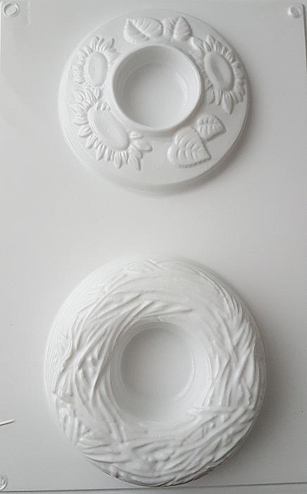 Matrita pentru turnat lumanare Cuib si Floarea soarelui