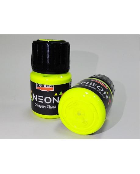 Vopsea acrilica neon galben