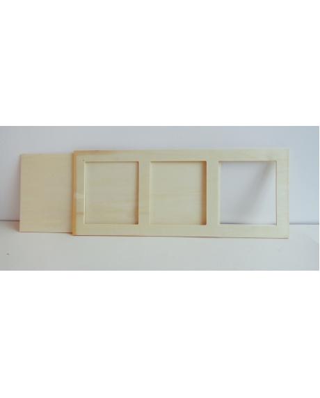 Rama tripla 37x15x0.7 cm