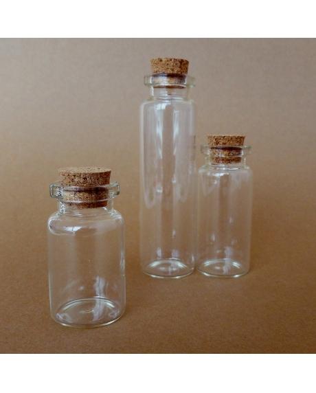 Sticluta cu dop de pluta 2,2x7,5 cm
