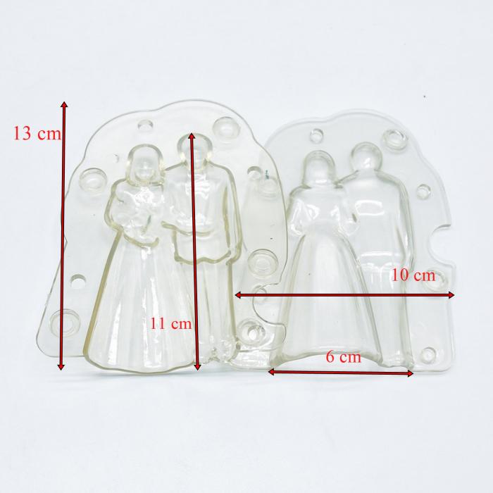 Forme 3D pentru figurine din ciocolata - Pereche miri