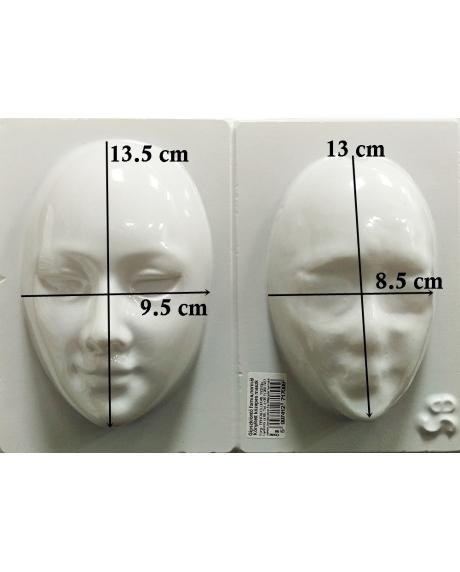 Matrita pentru turnat ipsos - Masca doua parti 15 cm