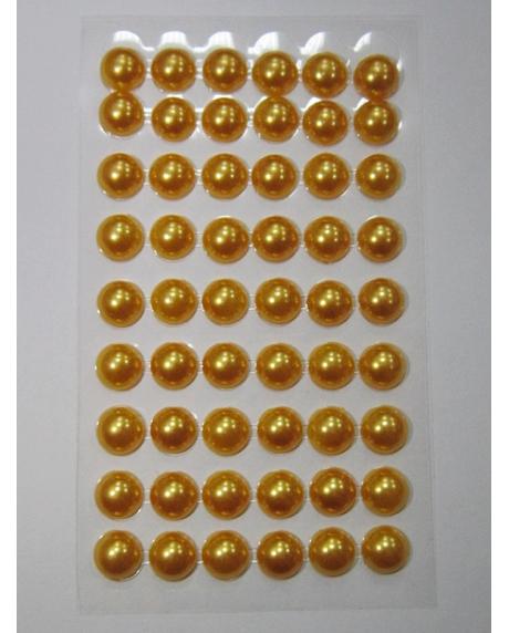 Perle jumatati AA. 10 mm(54 buc) auriu