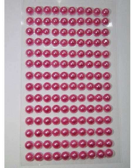 Perle jumatati AA. 6 mm(140 buc) roz vintage