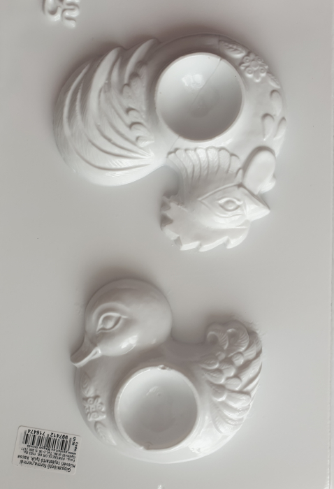 Matrita pentru turnat ipsos - Suport oua - Rata si cocos
