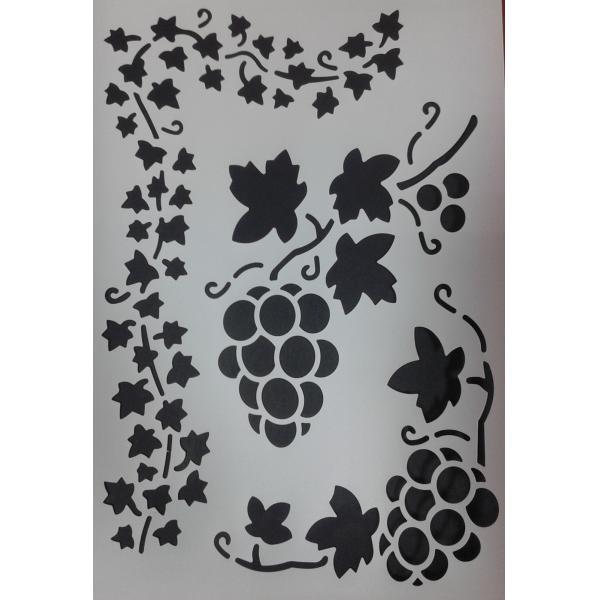 sablon din plastic flexibil 21x31cm grosime 0,5mm decorare hobby diy struguri