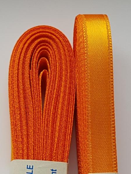 Saten portocaliu intens 10 mm