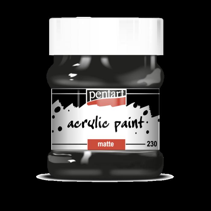 Vopsea Acrilica Mata negru (230 ml)