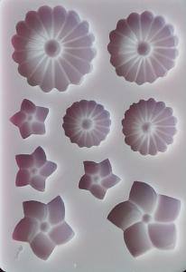 Mulaj din silicon,flori