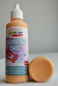 Window paint portocaliu 80 ml