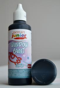 Window paint liner negru 80 ml