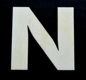 "Litera din lemn ""N"""