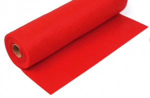 Rola fetru rosu 1mm grosime