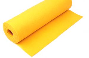 Rola fetru galben soare 1mm grosime