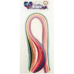 Hartie quilling 53 cm (15 culori, 150 fasii)
