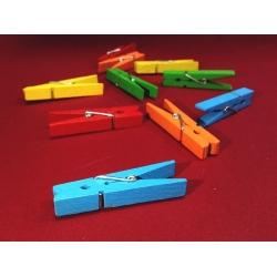 Cleme lemn colorate 4.5x0.7 cm (10 buc/set)