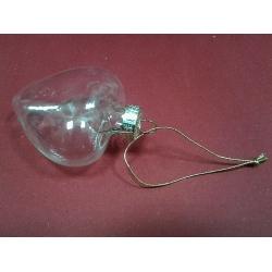 Ornament sticla inima 6 cm