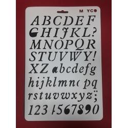 Sablon plastic flexibil Litere & cifre