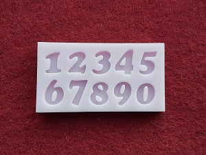 Mulaj din silicon - Cifre pentru tort, simple