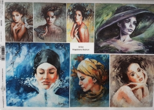 Hartie de orez A4 - Portrete de femei