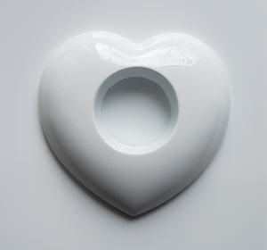 Matrita pentru turnat ipsos - Suport lumanare- Inima 10.5 x 9.5 cm
