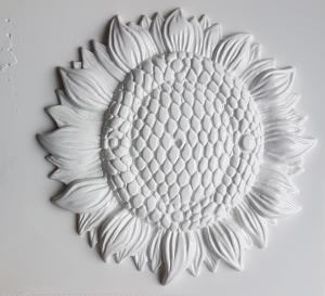 Matrita pentru turnat ipsos - Baza ceas floarea soarelui 22 cm