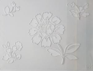 Sablon plastic - Floral 1