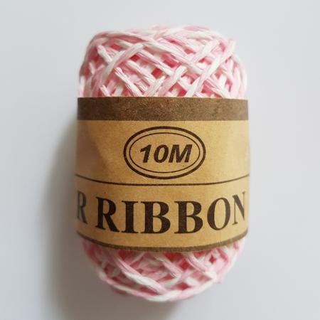 Snur din hartie - Roz cu alb