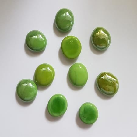 Cabochon sticla - Verde