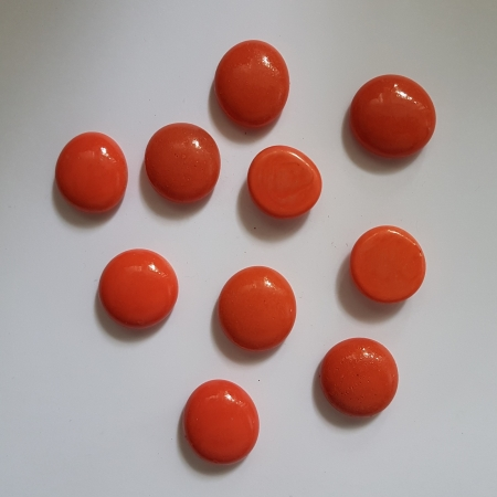 Cabochon sticla - Coral