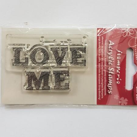 Stampila silicon - Love Me