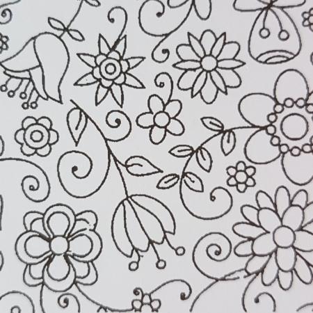 Foaie texturata - Floral 3