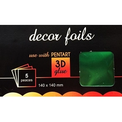 Folie decor metalizat verde