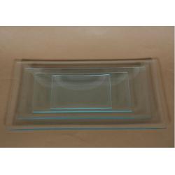 Platou sticla dreptunghiular 13x27 cm