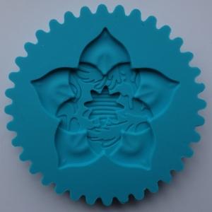Mulaj din silicon, rozeta floare top cupcake