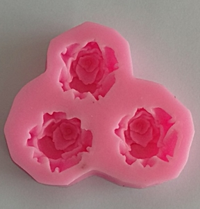 Mulaj din silicon, 3 trandafiri
