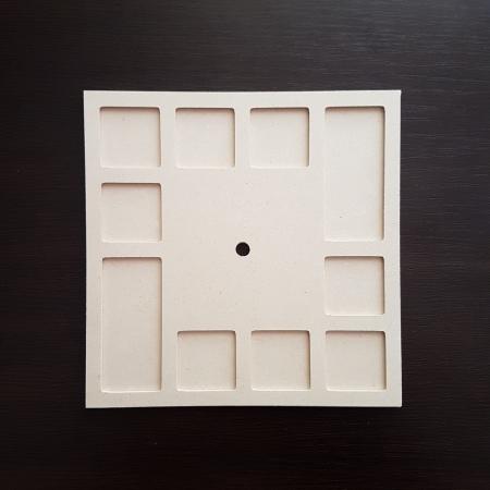 Cadran ceas din lemn 20x20 cm
