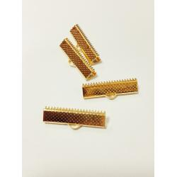 Capat panglica 20 mm (6 buc/set) auriu