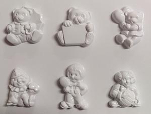 Forme pt turnat ipsos, praf ceramica clovni si ursuleti