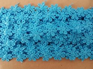 Dantela floricele bleu 8.5m