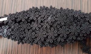 Dantela floricele negre 9.5 m