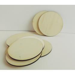 Placuta lemn rotunda 9 cm