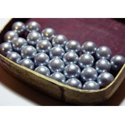 Perle 8 mm (30 buc/set) argintiu